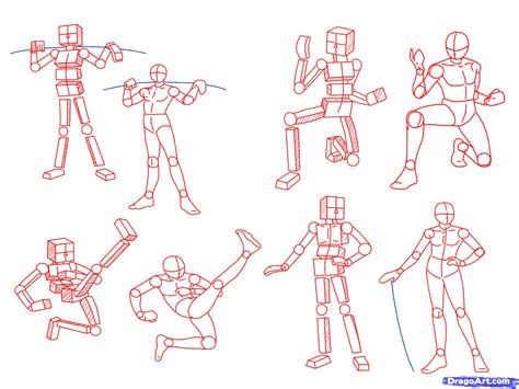 how to draw anime poses step by step anatomy people