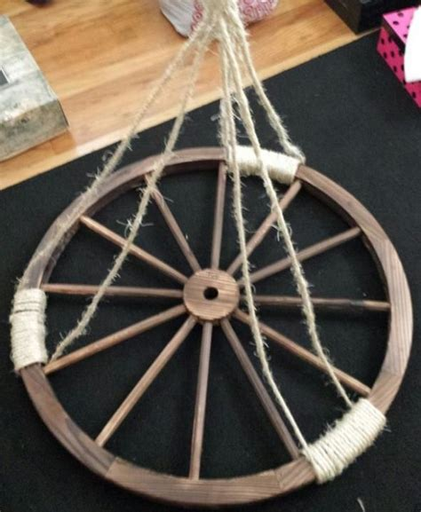 make your own wagon wheel chandelier western wedding