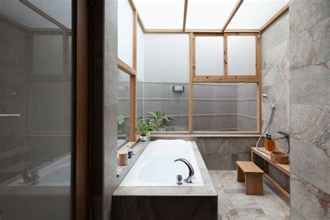 minimalist chinese home   covered courtyard