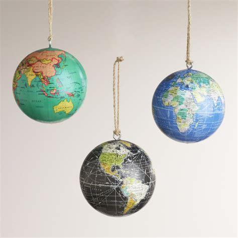 paper globe ornaments set of 3 world market