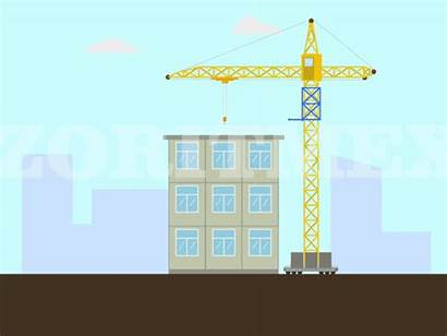 Construction Building Timelapse Crane Foundation Dribbble Bulldozer
