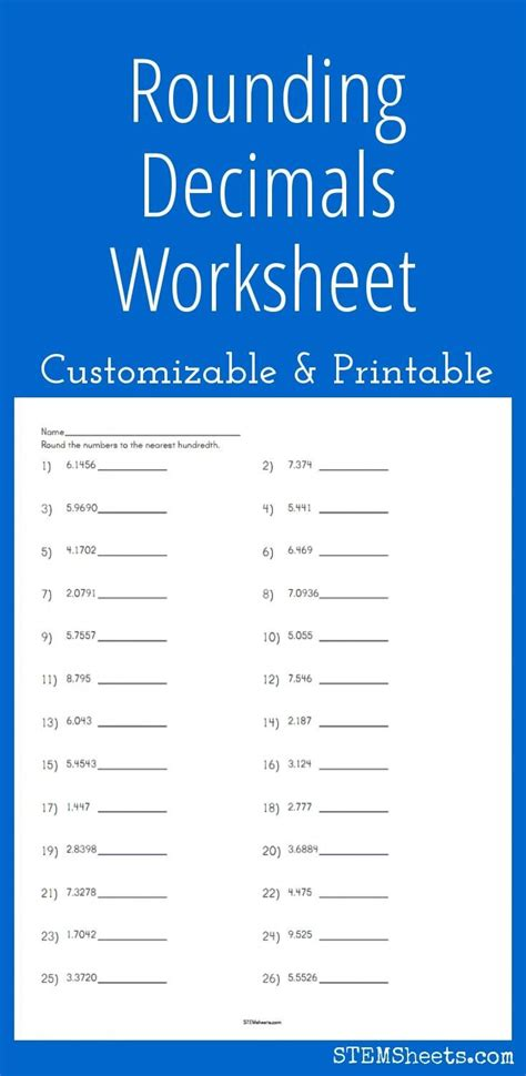 best 25 rounding decimals worksheet ideas rounding decimals rounding numbers