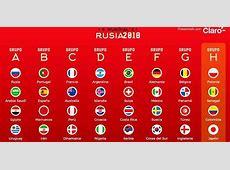 Cómo quedaron los grupos del Mundial Rusia 2018