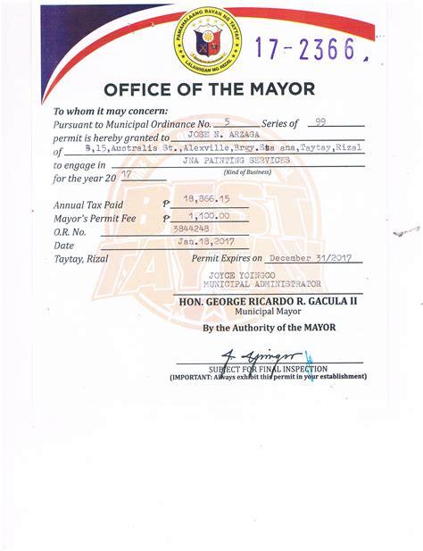 jna paint mayors permit jnapaintingservices