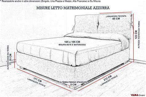 Materasso Matrimoniale Misure by Letto Matrimoniale Standard Misure