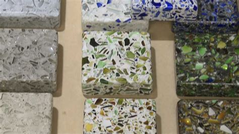 eco friendly countertops recycled glass concrete