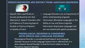 Classification Of Speech Disorders