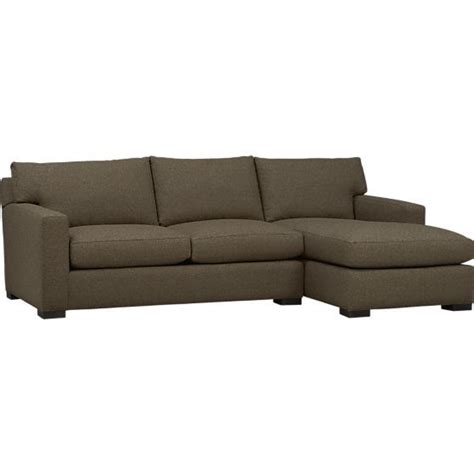 axis ii 2 piece sectional sofa crate and barrel s3net