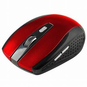 2 4ghz Red Wireless Optical Mouse Mice   Usb Receiver For