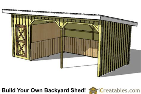 12x24 shed plans materials list 12x24 run in shed and tack room plans
