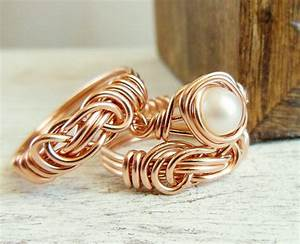 Rose gold rings pearl engagement ring infinity knot for Pearl engagement ring with wedding band