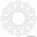 Embroidery Coloring Pattern Knotwork Fudge Patterns Knot Hand Donteatthepaste Template Paste Eat Don Sketch October sketch template
