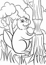 Beaver Coloring Pages Animals категории из раскраски все sketch template