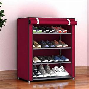 5, Layers, Home, Dustproof, Large, Size, Non, Woven, Fabric, Shoes, Rack, Shoes, Organizer, Home, Bedroom