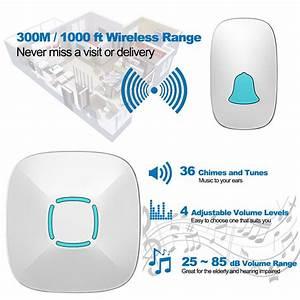 Wireless Doorbell Kit  Plug And Play Waterproof  Operating