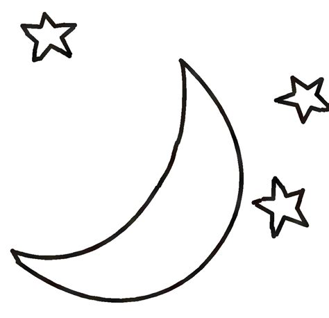 black and white black and white moon clipart clipartxtras