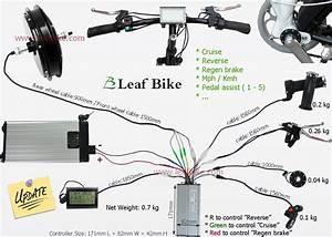 Leaf 20 Inch 48v 1500w Front Hub Motor Wheel