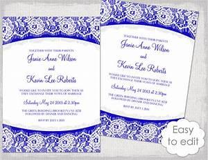 royal wedding invitation template yourweek 0427c4eca25e With wedding invitation blank template royal blue