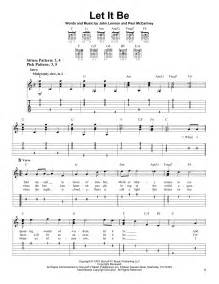 Beatles Let It Be Guitar Chords