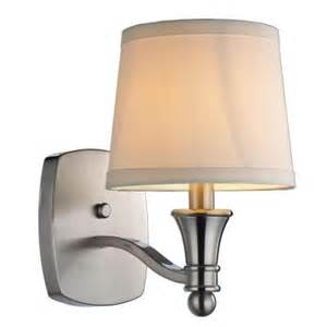 hton bay towne 1 light brushed nickel sconce ew1303sba