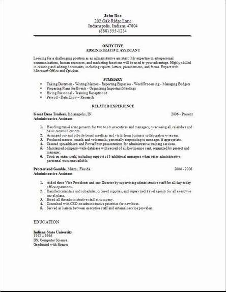 executive administrative assistant resume cover letter