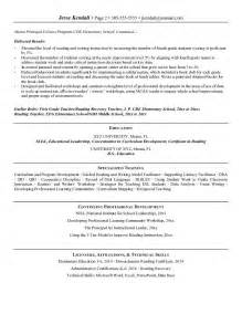 resumes for educators and administrators resume format resume sles education administration
