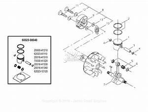 Shindaiwa T231x Parts Diagram For Clutch  Crankshaft  Piston