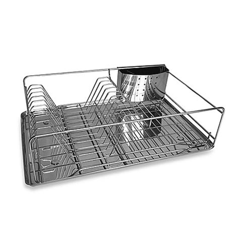 stainless steel dish rack org stainless steel dish rack with drain board bed bath
