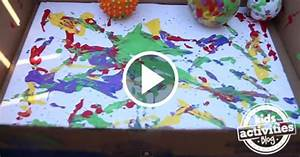 Making A Mess  Preschoolers Painting With Balls