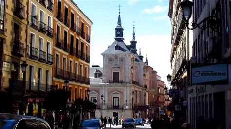Madrid Spain Calle Mayor The Main Street In The Old