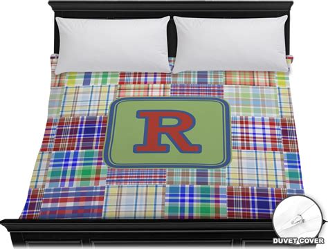 Madras Duvet by Blue Madras Plaid Print Duvet Cover King Personalized