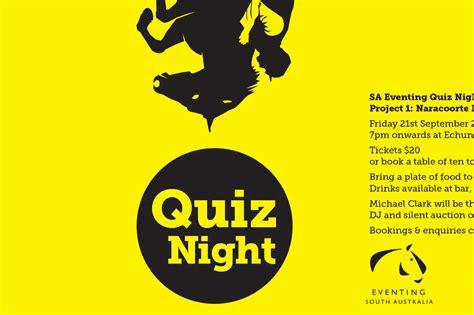 quiz poster night graphic adelaide sa
