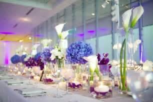 contemporary wedding modern purple blue white wedding at contemporary chicago venue inside weddings