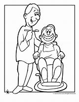 Coloring Pages Dentist Dentists Printables Special Activities Woo Jr sketch template
