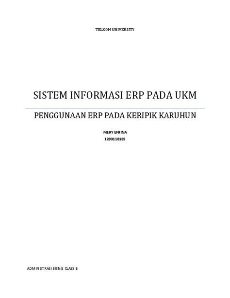 (DOC) JURNAL ERP PADA UKM DI INDONESIA | Mery Efrina