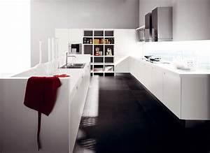 beau modele cuisine blanc laque 4 la cuisine blanche With modele cuisine blanc laque
