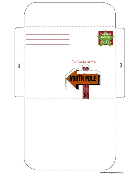 santa letter envelope printable  friends