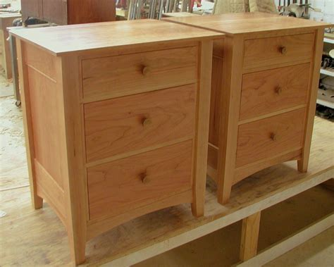 pair  nightstands bedroom   drawers cherry