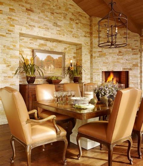 cozy  modern dining rooms  fireplace https