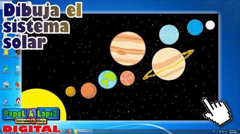 como dibujar el sistema solar  sus planetas en paint youtube