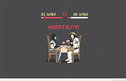 Funny Wallpapers Quotes Backgrounds Sayings Simple Hospitality