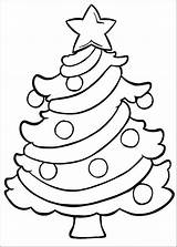 Christmas Tree Pages Simple Coloring Easy Colouring Printable Template sketch template