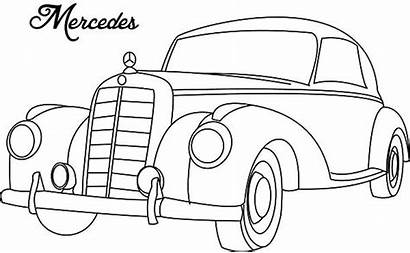 Coloring Pages Mercedes Classic Cars Antique Netart