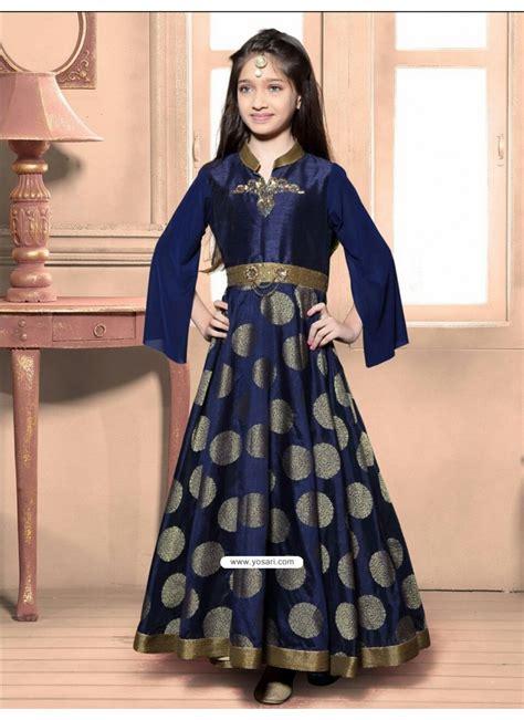 buy festive blue jacquard dress indowestern dresses