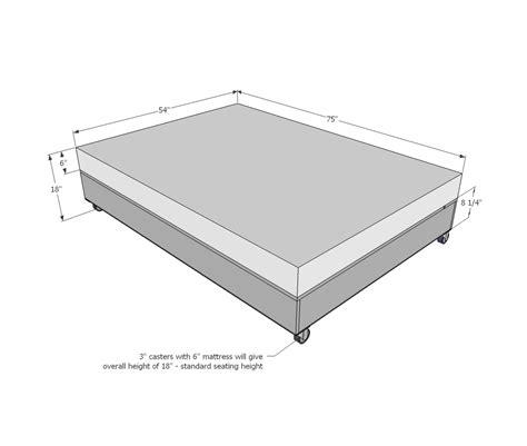 ana white lift storage bed trundle converts  sofa