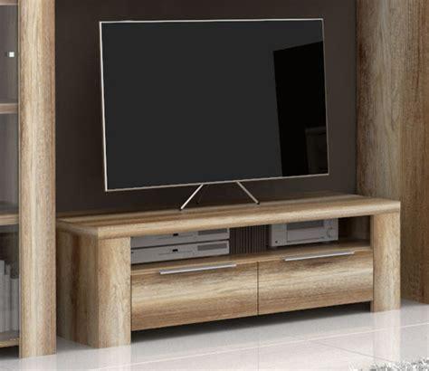 meuble tv 2 tiroirs 1 niche calpe chene antique