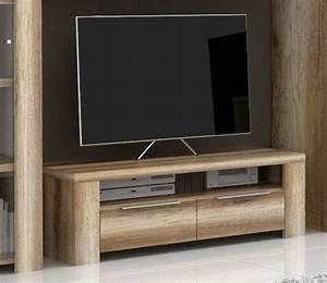 meuble tv 2 tiroirs 1 niche calpe chene antique With meuble niche