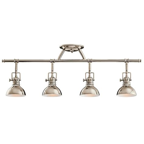 kichler adjustable rail light for ceiling or wall 7704pn destination lighting