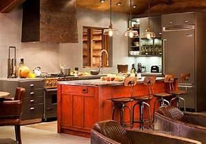 la touche orange en decoration mooviin With idee deco cuisine avec cuisine orange et gris