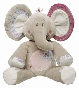Peluche Geante Elephant : noukies peluche grand el phant kali 80 cm ~ Teatrodelosmanantiales.com Idées de Décoration